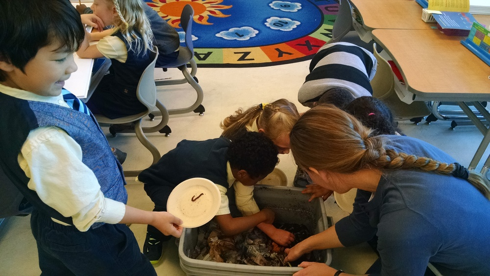 Learning all about earthworms at Tyler Elementary!