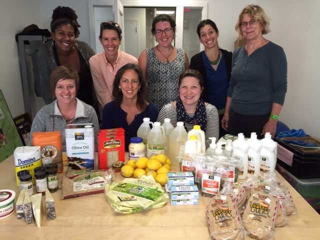 Members of the FoodPrints Team with this week's groceries.