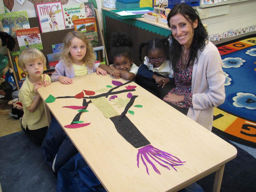 Ms. Martin's class exploring the magic of trees.