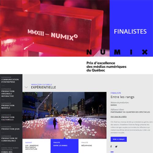 NUMIX 2014 - Finaliste Production Expérience Culturelle: Entre les rangs