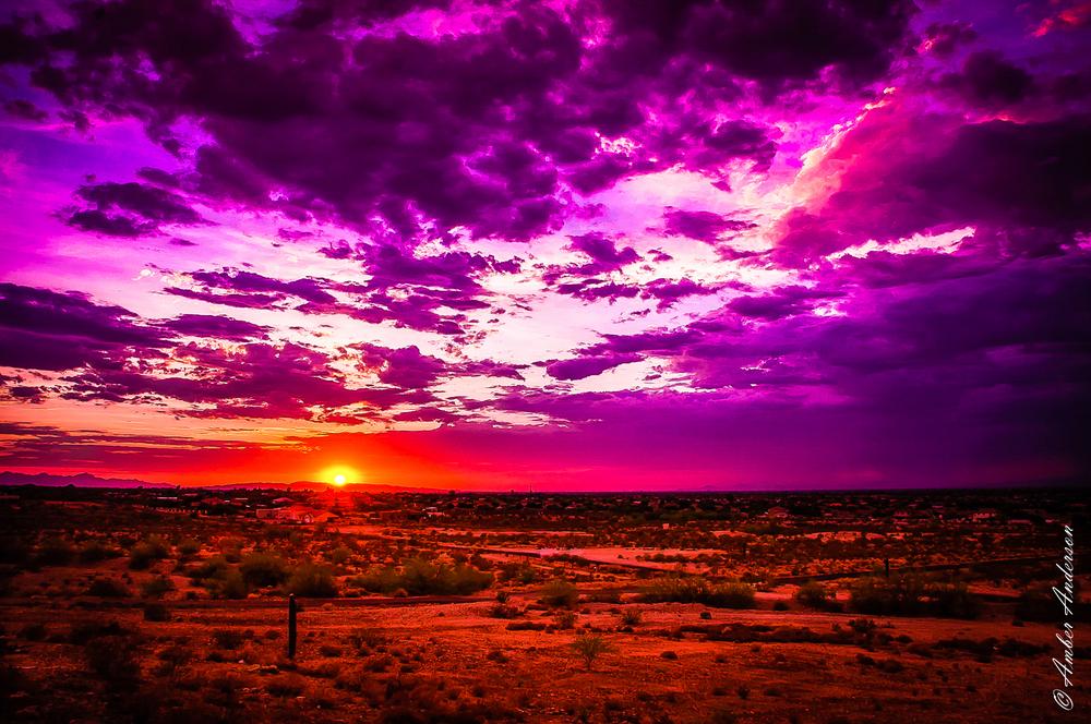 Monsoon Sunset in the Desert