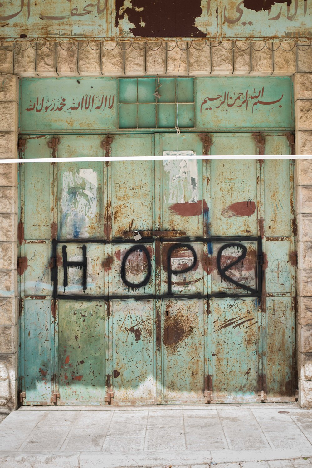 A shopkeeper's door, Hebron, West Bank, Palestine