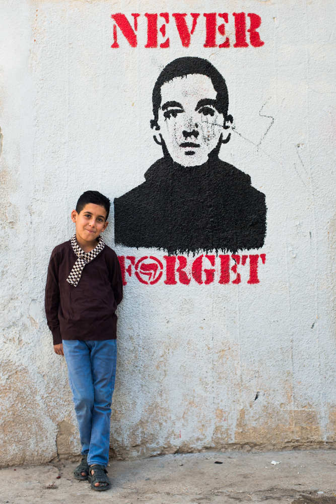 """Never Forget""- Aida Refugee Camp, Palestine, 2016    LISTEN    ""Well any boy, you want to buy for him something he tell me, buy me a gun. They want guns. They became aggressive. They became… you see for that, why you find some killing here and here. Because the one that his land are taken, his house demolished, his brothers are killed. What else? He can't do anything. He want to do something. You see?"""
