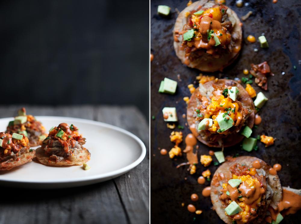 Kimchi Pork Tostadas © Becky Reams