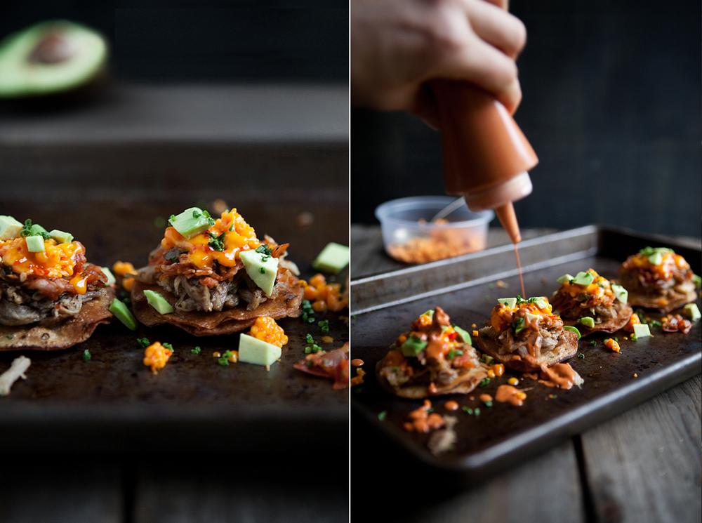 kimchi tostadas © Becky Reams