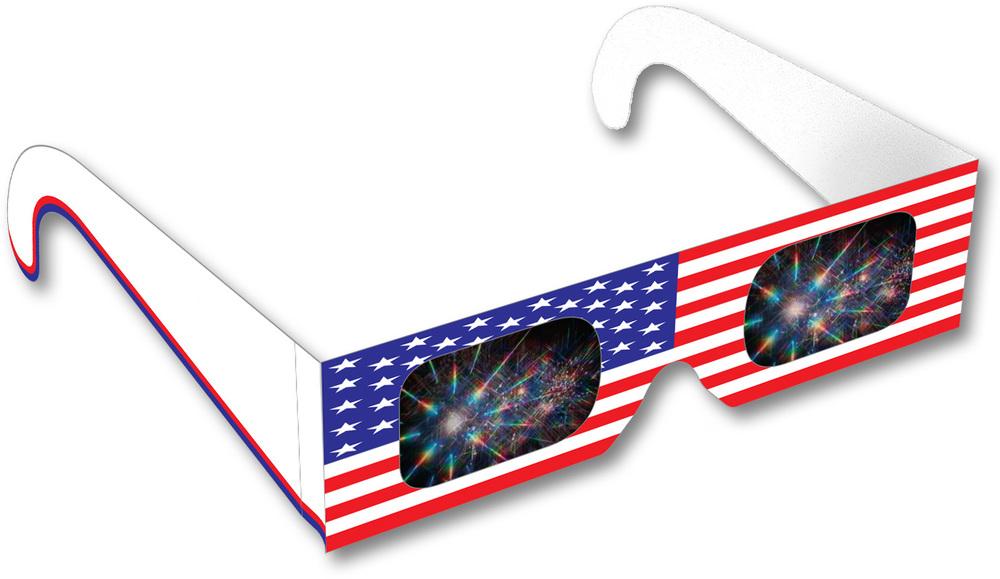 American Flag Fireworks Glasses