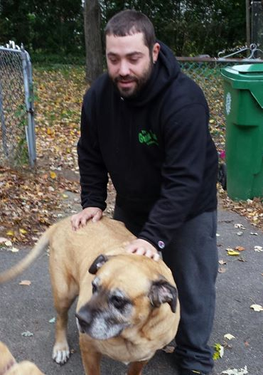 We delivered C.A.R.E. Kits to 24 dogs this past weekend! That's 24 dogs with full bellies and happy hearts because we Krusade. Here's Lilly with her new furrend, family member Roberto M. One of our volunteers got called into work and cou...ld not go out on Saturday. We called Roberto on the fly and he jumped in to help without hesitation! Another great example of our Pay It Forward program in action! People helping people. Thank you, Roberto! Keeping Families Together, One Dog At A Time www.KanesKrusade.org