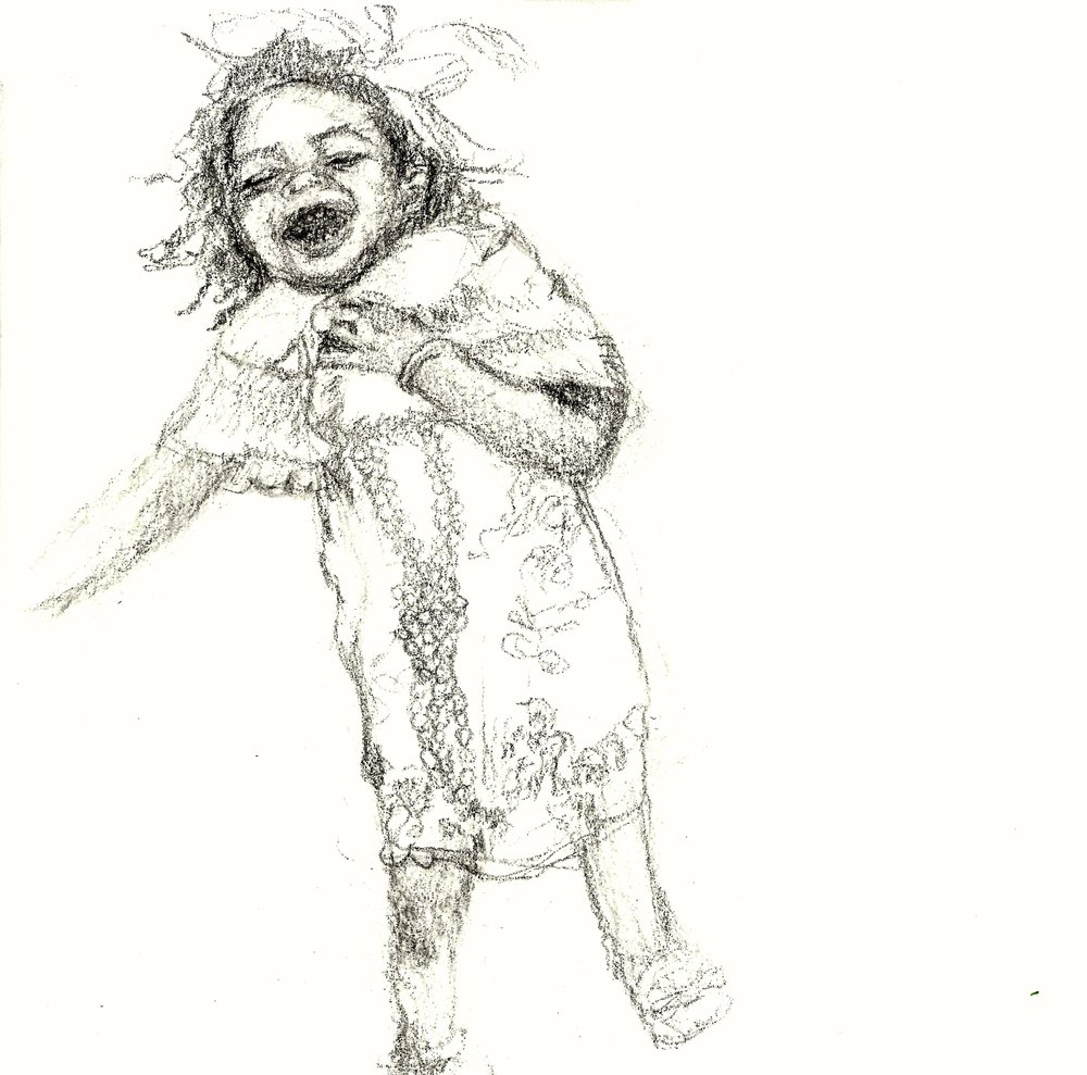Last Laugh   Graphite sketch on 140 lb cold press