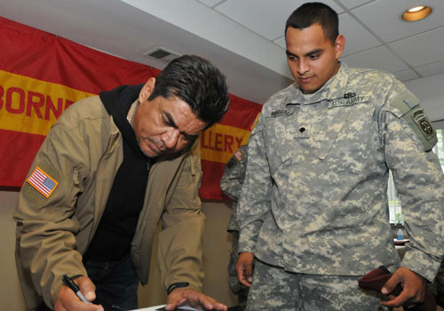 George Lopez Troops First Foundation surprise 1-319th AFAR