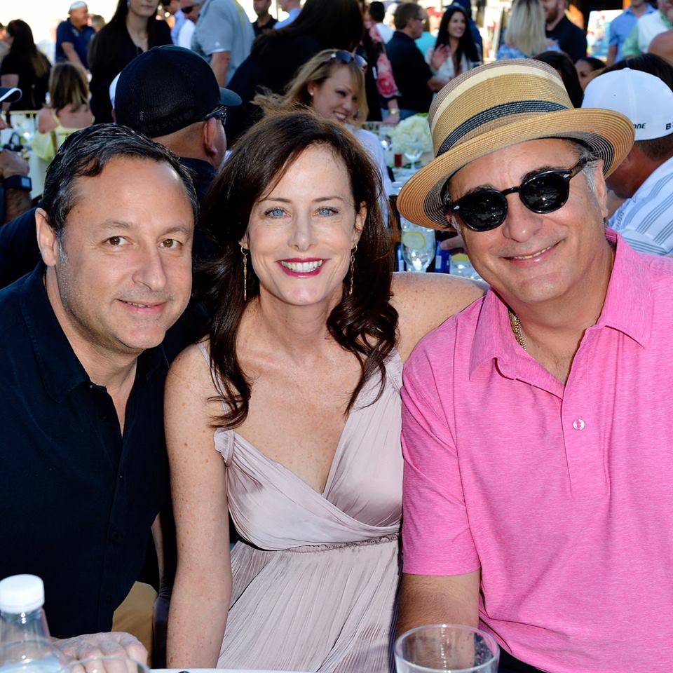 Stacey and Larry Kohl with Andy Garcia at the 10th Anniversary George Lopez Celebrity Golf Classic