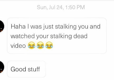 "remember when sh*t got really meta and our ""stalking dead"" parody actually helped @kimmyfoskett get dates?  #tindertuesday #tinder #theleague #comedy #instagood #lolz #millenials #love"