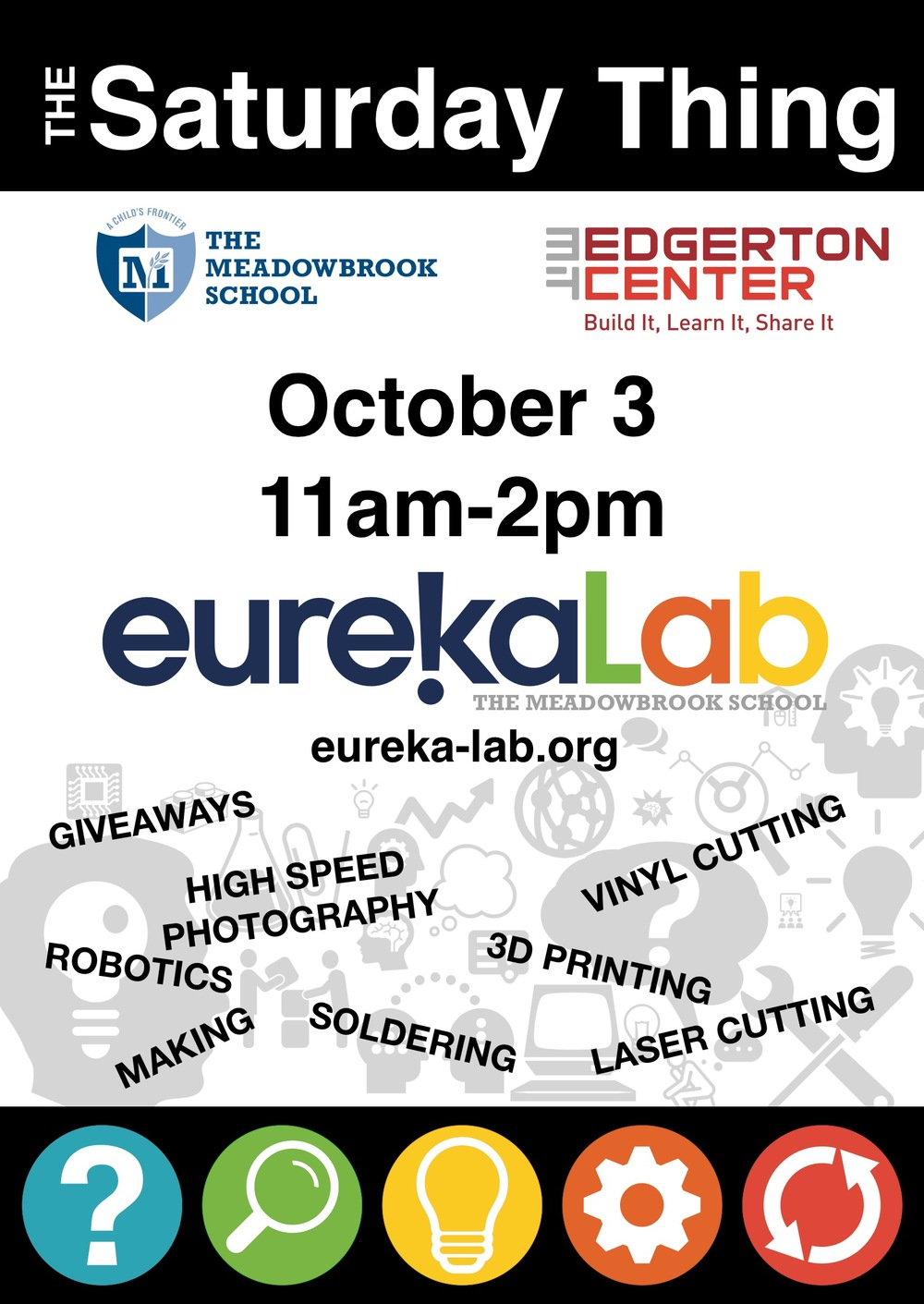 Join us in the EurekaLab for some making this Friday, October 3 from 11-2pm.