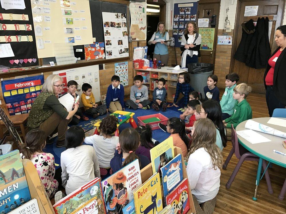 Circle time in preschool.