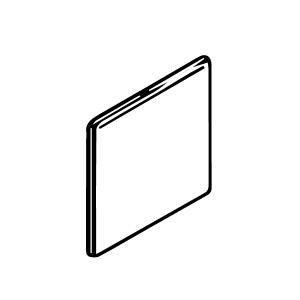 3 x 9 1/2 Surface Bullnose