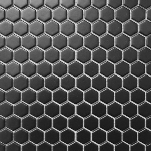 Hex Black Matte 1 x 1