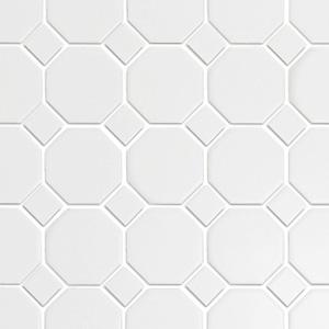Octagon White with White Dot Matte