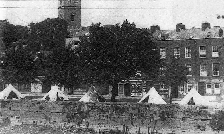 George's Quay, Limerick City - 1930's - Tents by the River