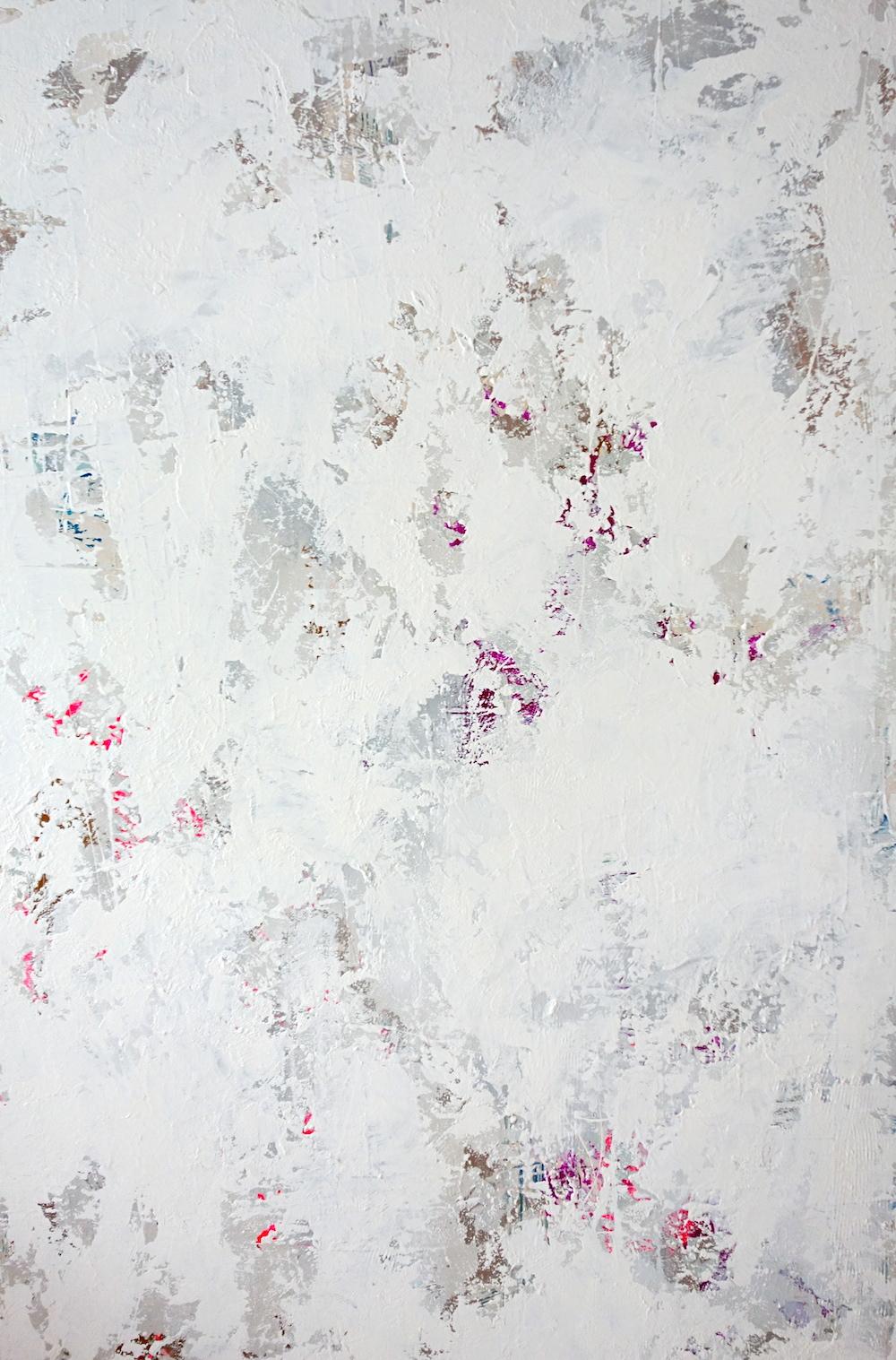 "Depth Charge, acrylic on masonite, 70"" x 46"", 2014"