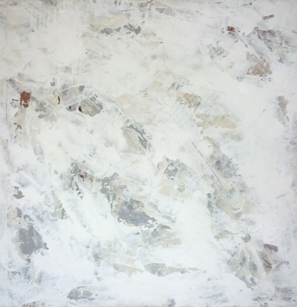 "Marine Layer #1, acrylic on masonite 24""x24"", 2013"