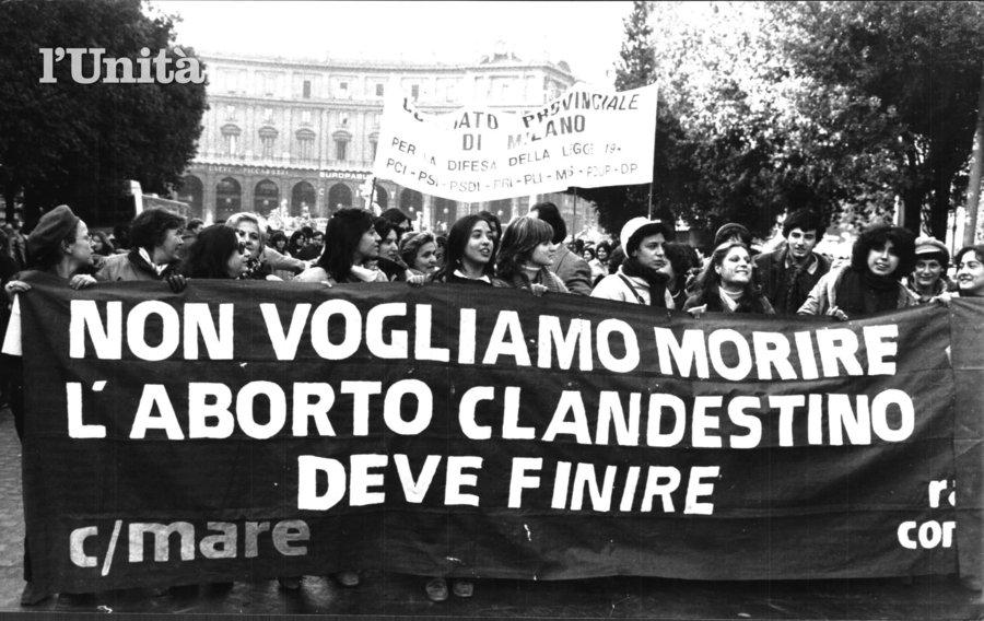 """Photo      SEQ Photo \* ARABIC    4       - """"Nous ne voulons pas mourir, l'avortement clandestin doit finir"""", photo d'archive, l'Unità"""