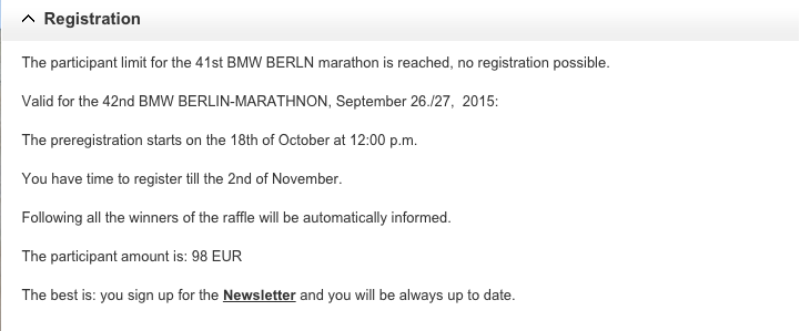 Registration for Berlin