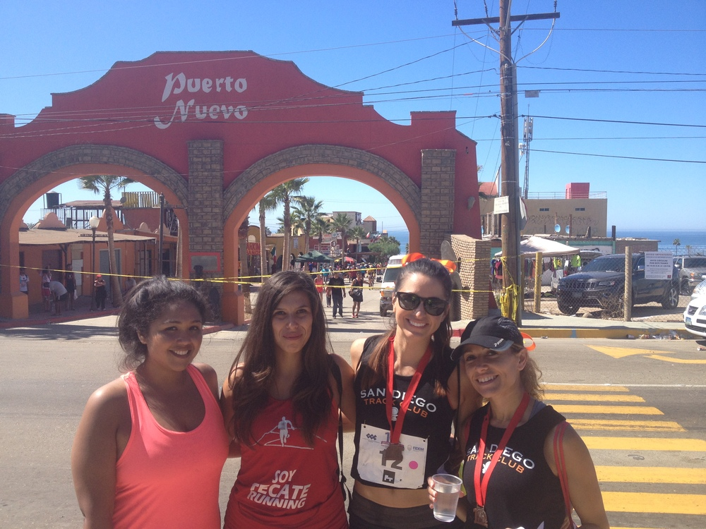 Rosarito- Puerto Nuevo Half Marathon (just so you know the road to Puerto Nuevo is NOT downhill...)
