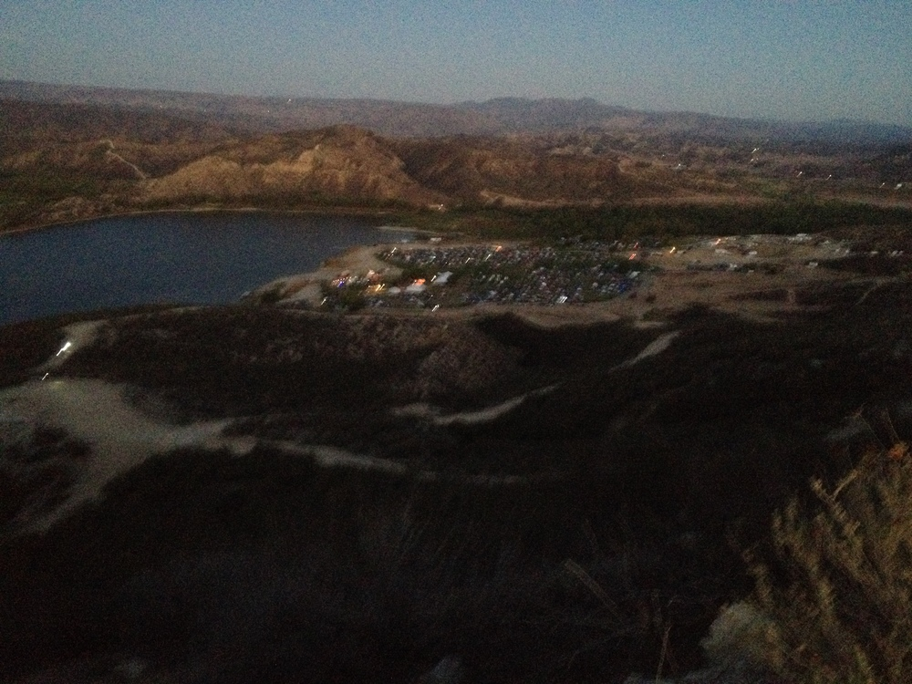 oh little town of... Vail Lake. we worked HARD for these views.
