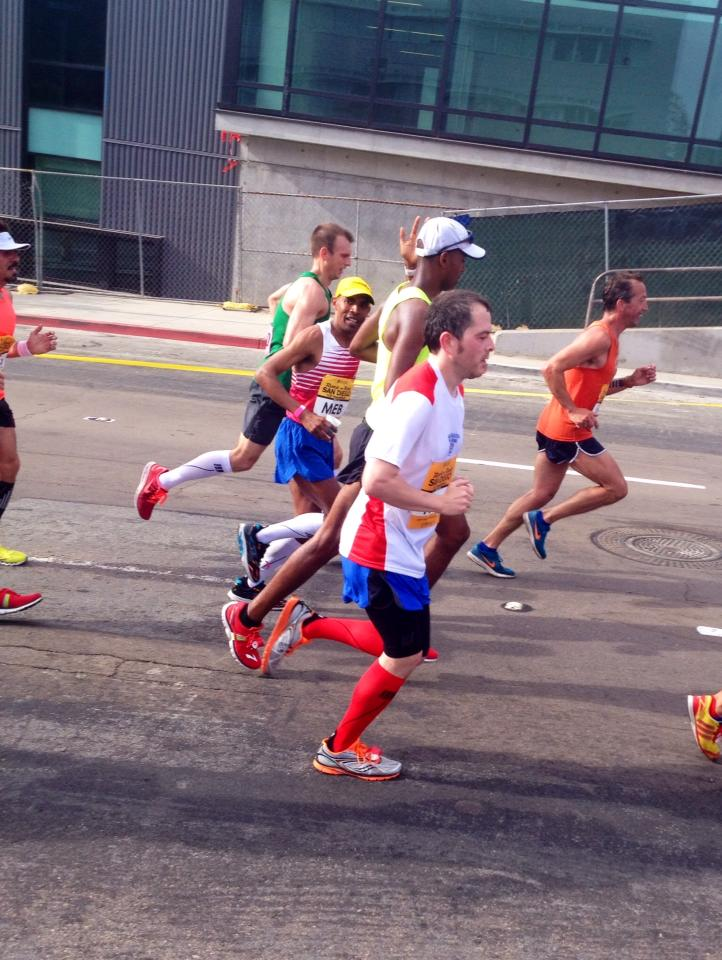thanks for waving to me, Meb. MADE MY DAY!
