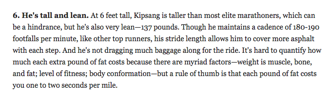 137 pounds seems mighty light for 6 feet. geez.