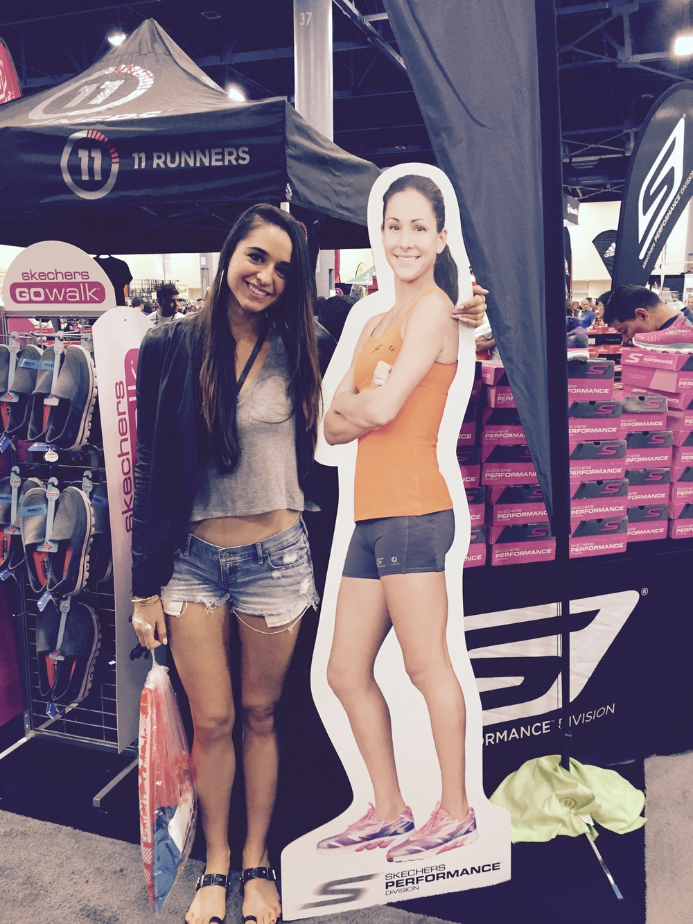 at the Miami Marathon Expo with my runsista herooooo, Kara Goucher.