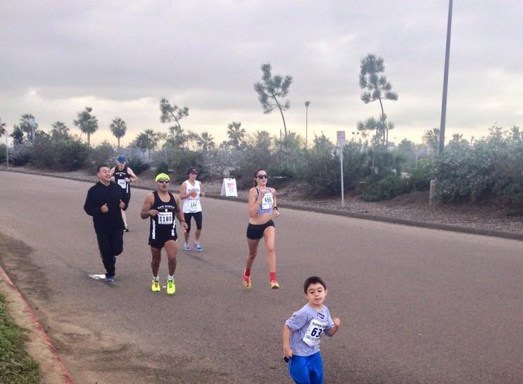 "my thoughts as I am running the last .1 miles - ""God, please let me beat the 4 year old running the 5k..."" a new low."