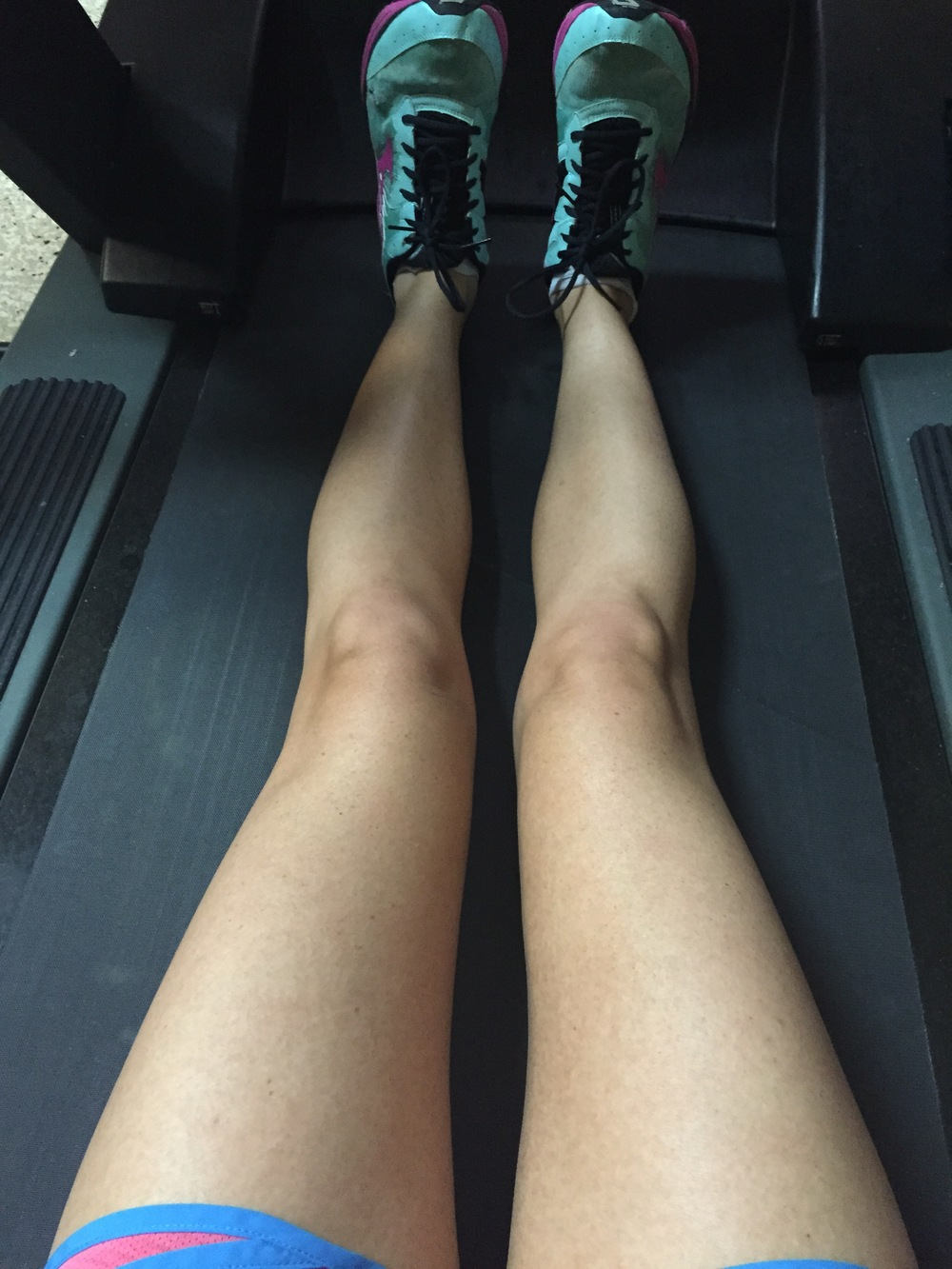 where my legs basically live. my treadmill. i wish i got to be in this position all of the time tho. much more comfortable.