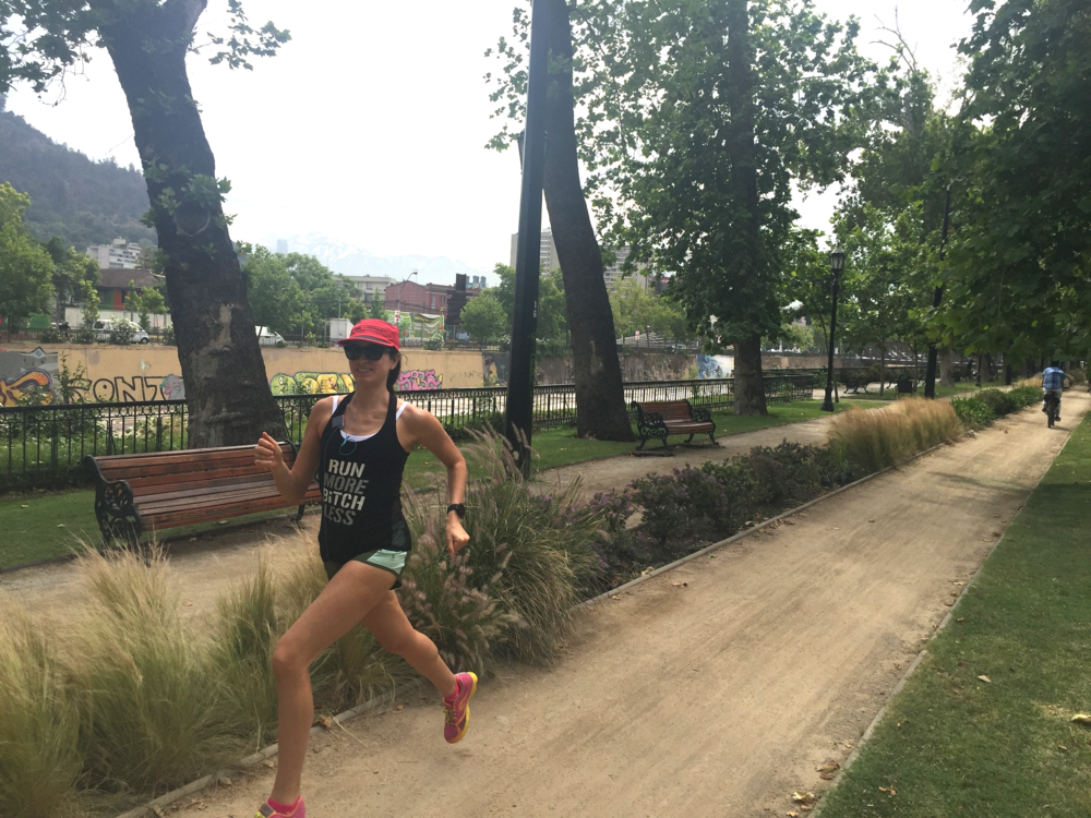 Running in Santiago, Chile