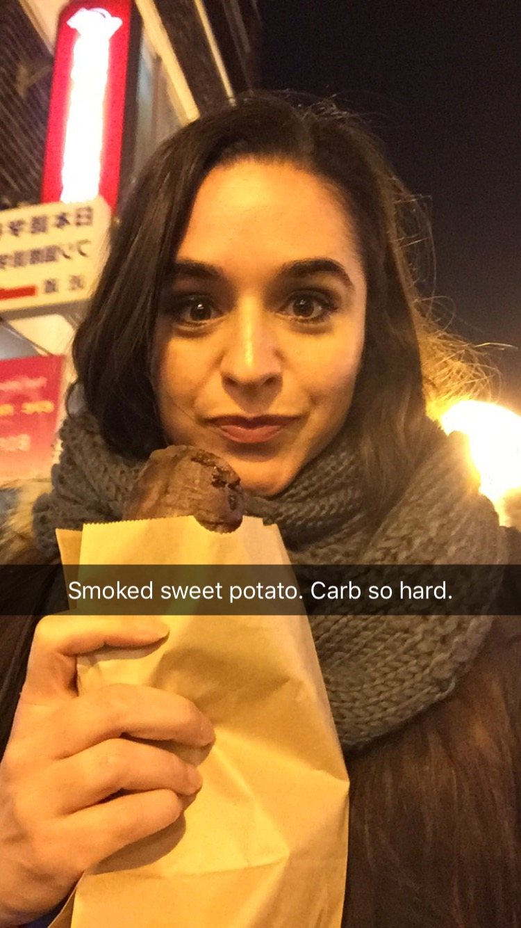 found a random half a sweet potato on a street. first & last time to ever see a sweet potato cart in my life.