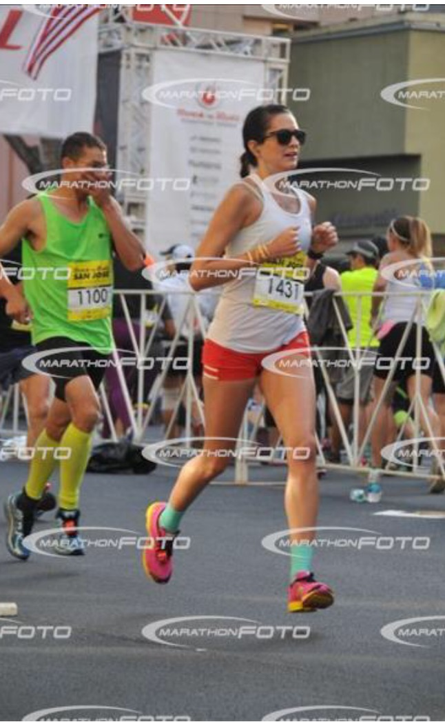 "things are getting real + feeling like a 5'1"" Mary Keitany NYC- marathon winner with my close arms here."