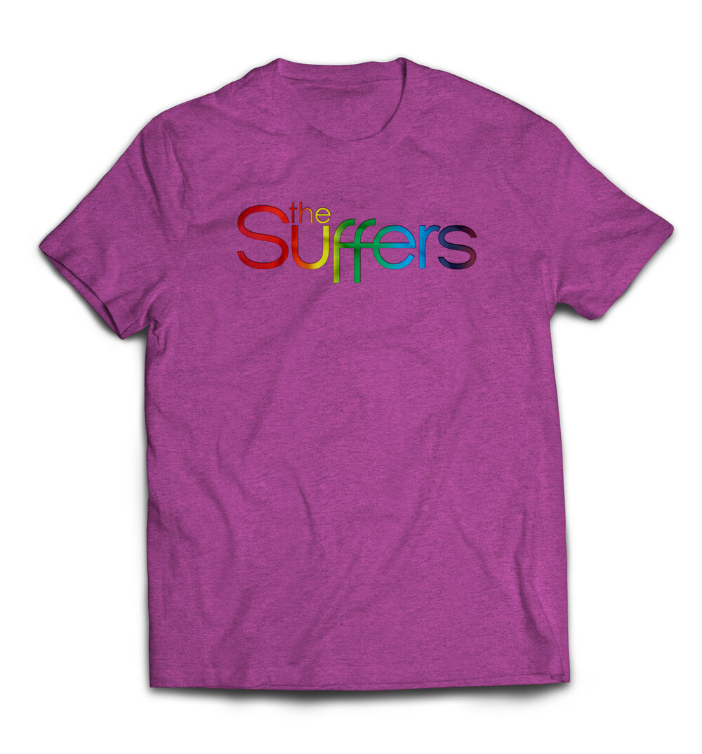 Black t shirt with gold design - The Suffers Logo Shirt Black Gold