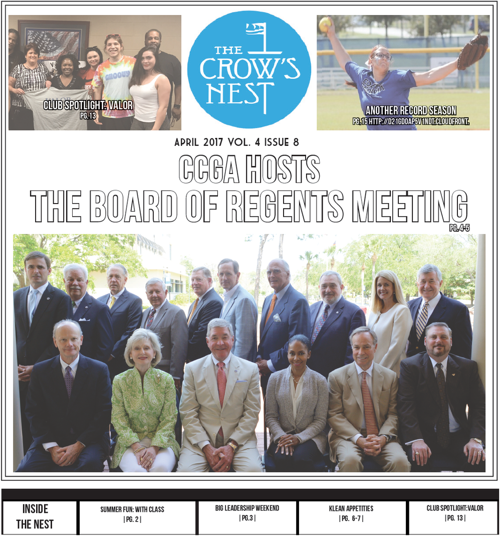 Click on the cover to see what's inside it and share your thoughts with us on social media.  #CCGACrowsNest | @ccga_crowsnest | crowsnest@ccga.edu