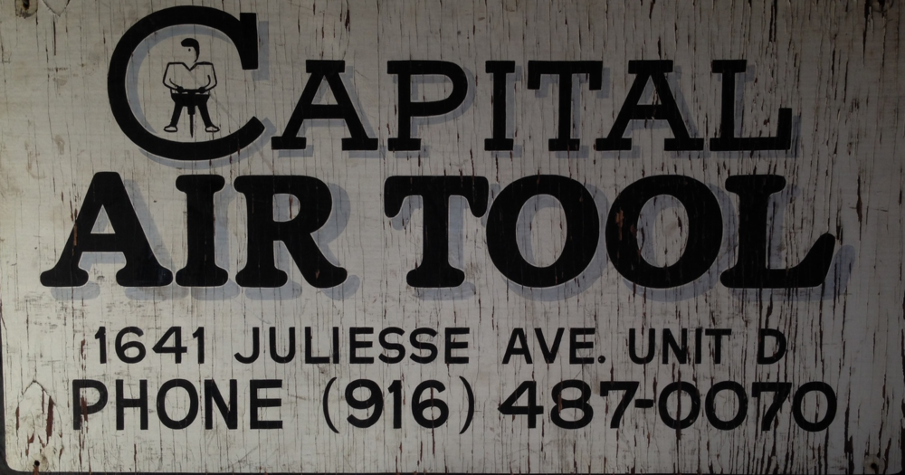 1975 Original Capital Air Tool Sign. (Phone # and address are not current)
