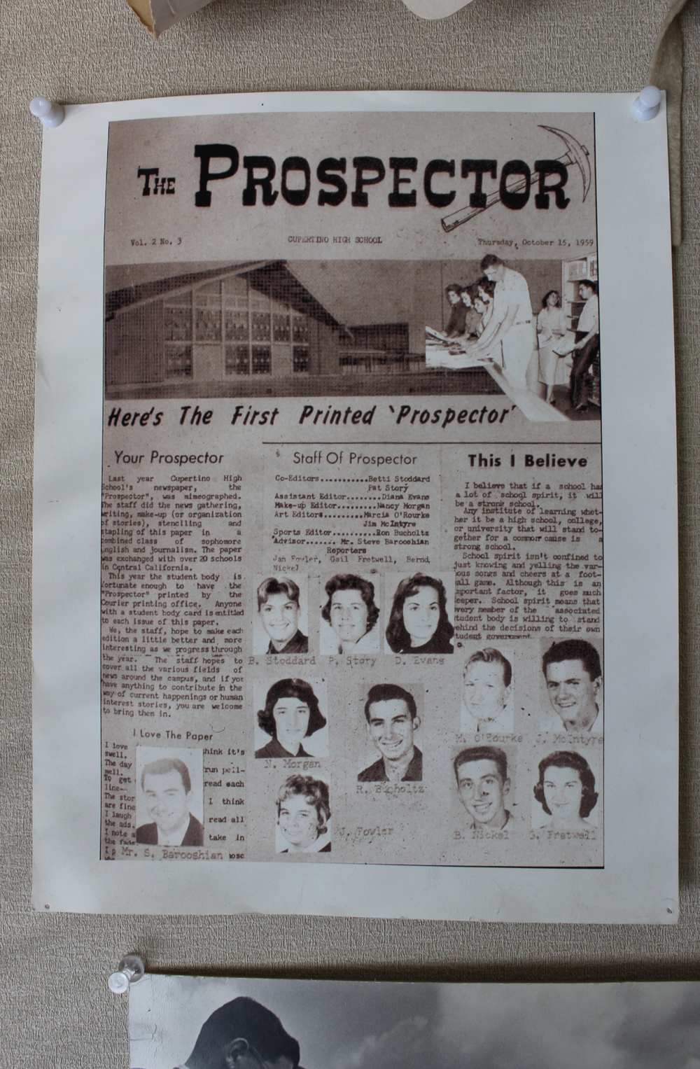 The Prospector from October 15th, 1959.