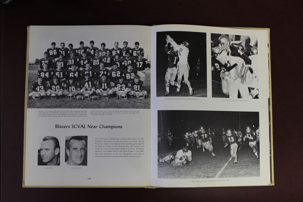 Morse has kept all the yearbooks from 1959 to  2015 for students to look at. Students in ASB flip through them to find things from the school's history to bring back. For example, Dusty made a comeback about five years ago and Powderpuff returned after a 15-year absence.