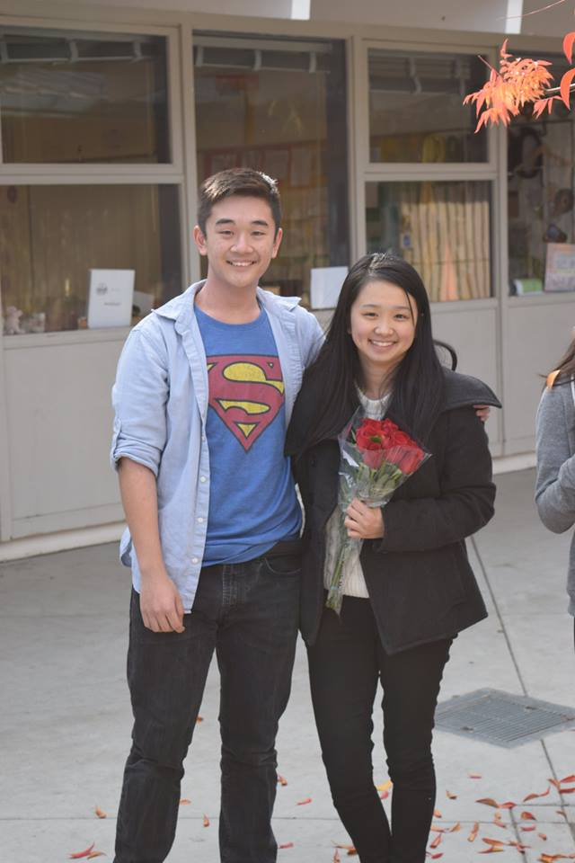 Junior Jonathan Pan and Junior Claire Lin