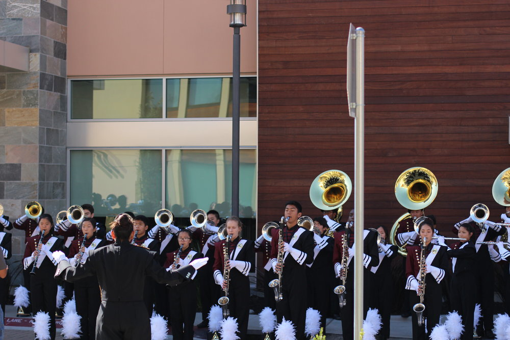 main stBand practicing before the parade.JPG