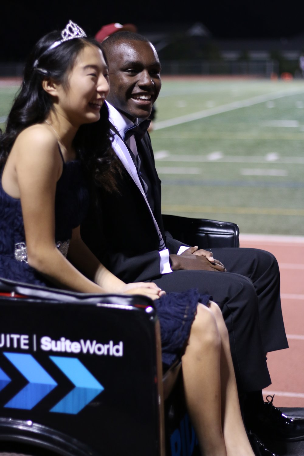 Homecoming court: Emmanuel Muriuki and Angela Ding (Sophomores)