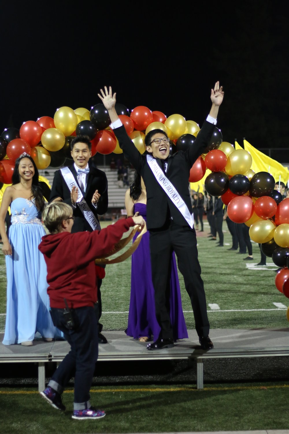 Harrison Liang wins Homecoming King