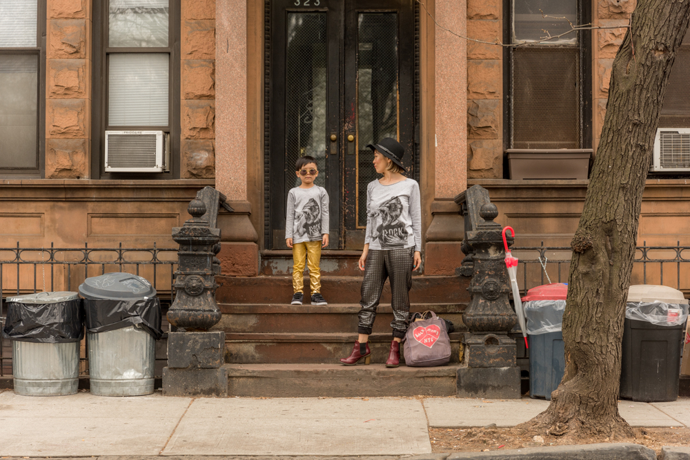 ROCK MAMA NYC LIFESTYLE BLOG - MOM AND SON MATCHING T-SHIRTS STYLING