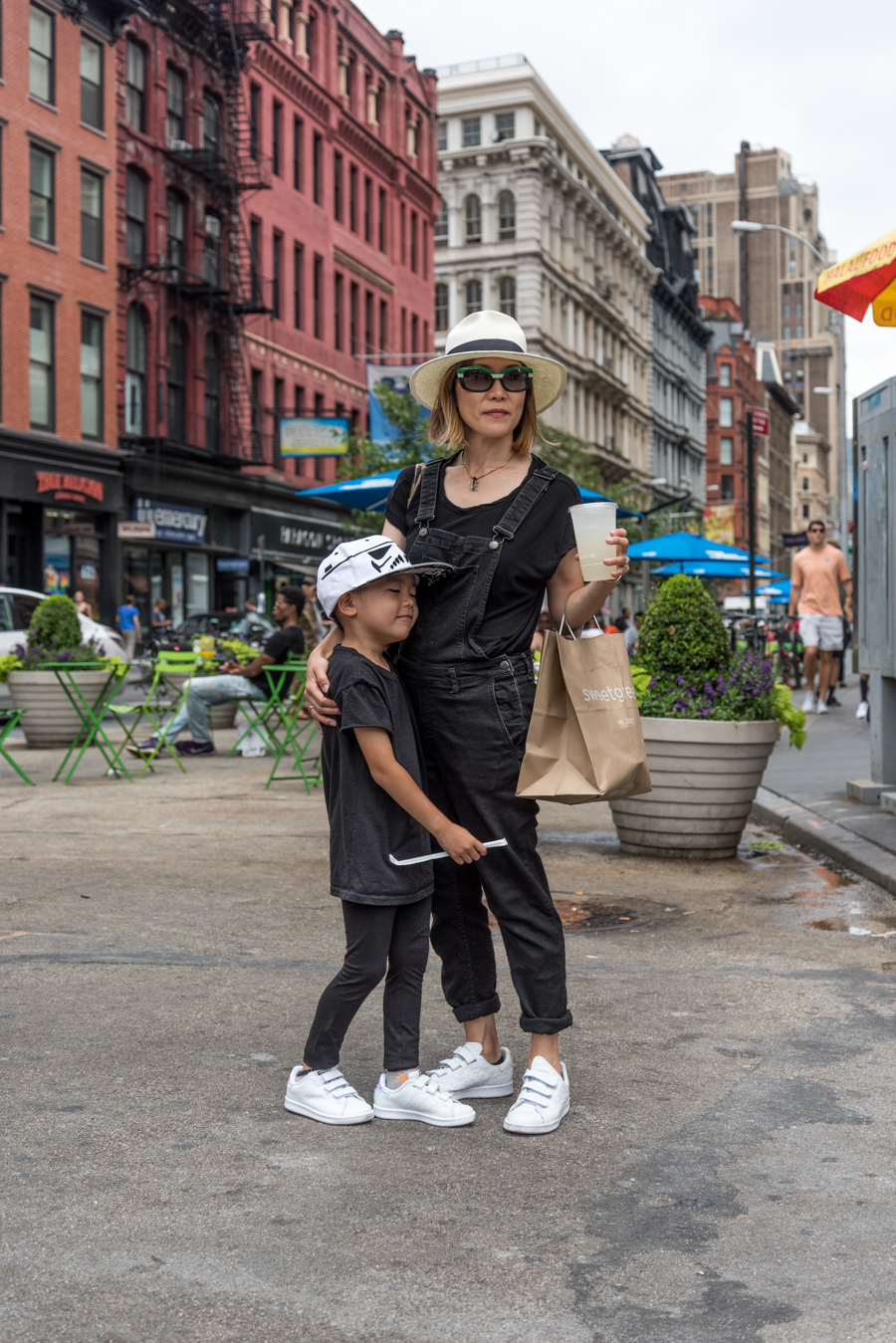 rock mama nyc lifestyle blog-Mom And Son White Stan Smith Styling