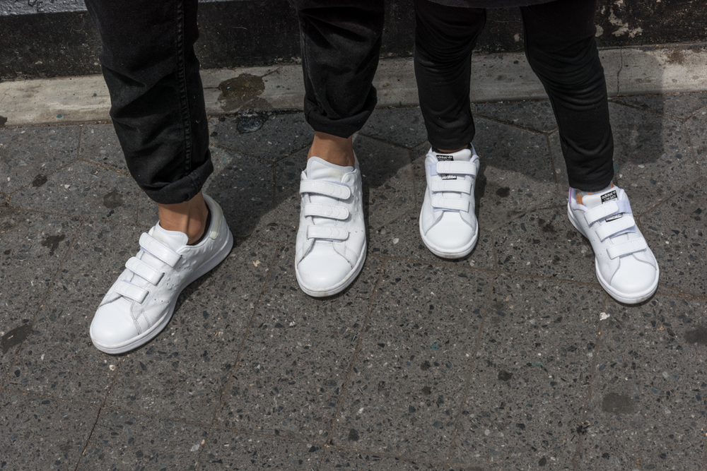 ROCK MAMA NYC LIFESTYLE BLOG-  MOM AND SON WHITE STAN SMITH STYLING
