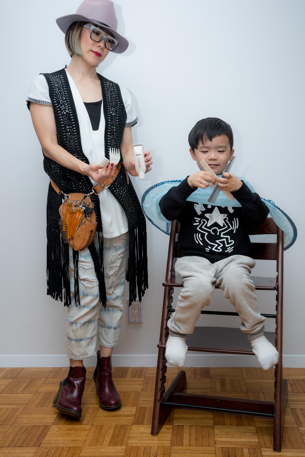 Rock Mama NYC lifestyle blog-Good Tools For A Kid's Haircut At Home