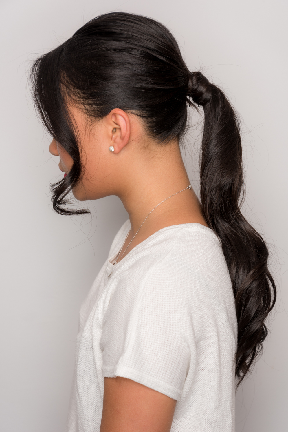 How To Make Easy & Stylish Ponytail 10