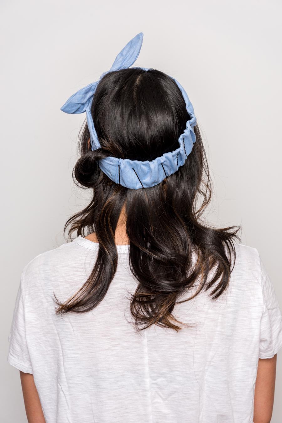How To Do An Easy Headband Updo 夏にオススメの簡単ヘアアレンジ 7